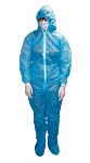 Tyvek® Disposable Coveralls With Attached Hood, Elastic Wrist And Ankles, Googles, Mask, and Shoe covers Included