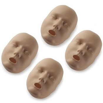 Dark Face Skin Replacements for PRESTAN® Adult Manikin (4-Pack)