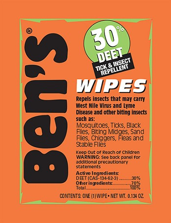 Ben's 30 Wipes 12/box