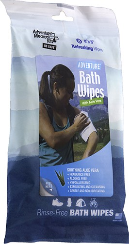 Adventure Bath Wipes - Travel Size (8 Pack)
