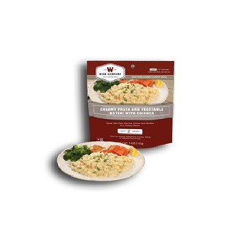 Creamy Pasta & Veg. Rotini with Chicken (2 Serving Pouch)