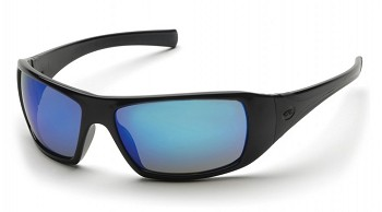 GOLIATH - Ice Blue Mirror Lens with Black Frame