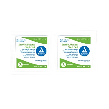 Alcohol Prep Pads - Medium 100 per box