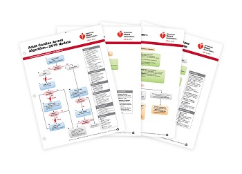 ACLS Emergency Cart Cards 2015 (4 Card Set)