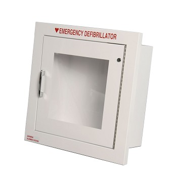 "Recessed AED Cabinet (14"" x 14"" x 7"") - Optional Alarm and Strobe"