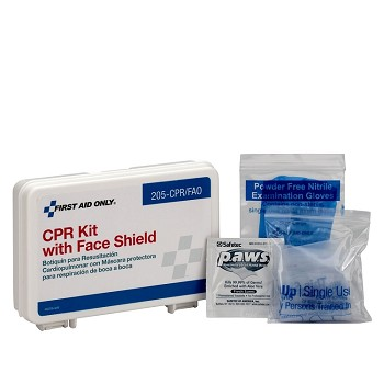 CPR Kit, Single Use, Plastic Case