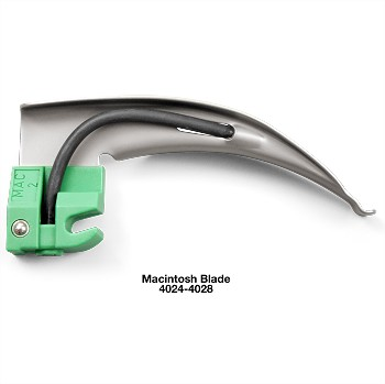 Laryngoscope Blades - Disposable Fiber Optic, Mac #0, 10/Box