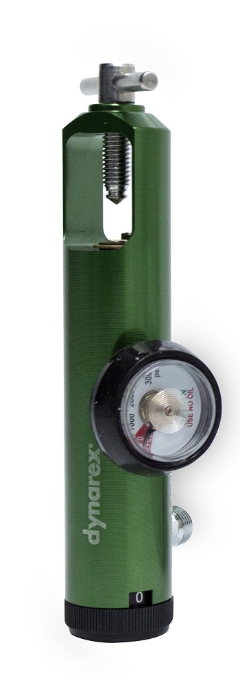 CGA870 Extdd Oxygen Regulator, Brass Core w/ Alum. Sleeve, 0-8 LPM, DISS Outlet, 5/case
