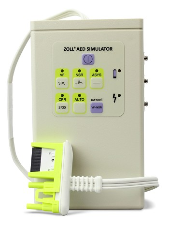 Simulator/Tester (Connects to AED Plus to Demonstrate Operation)