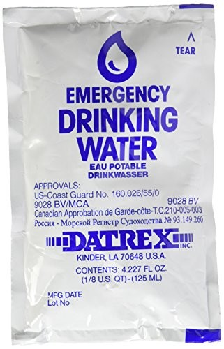 125ml Emergency Water Pouch