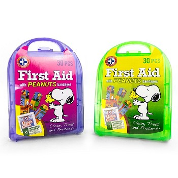 30-Piece First AId Kit with Peanuts Bandages