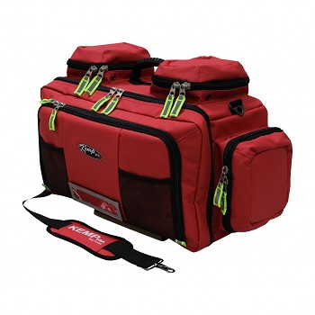 KEMP USA TARPAULIN RED FLUID-RESISTANT TOTAL EMS BAG - RED