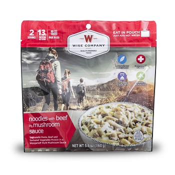 Outdoor Noodles in Mushroom Sauce with Beef- (2 serving pouch)