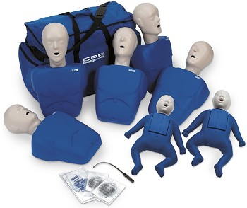 TPAK700 CPR Prompt 5 Adult/Child Manikins & 2 Infant Manikins (Tan or Blue)