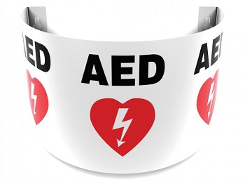 AED Sign - 180 Degree Projection
