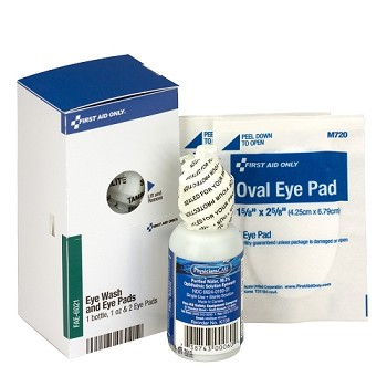 SC Refill Eyewash, 1 oz. Bottle, 2 Eyepads per/box