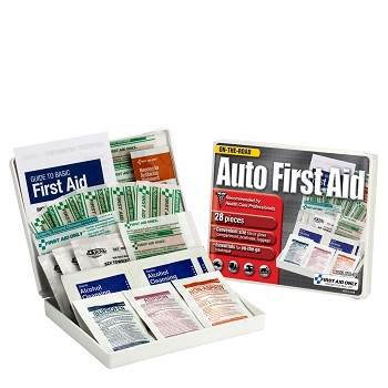 Auto First Aid Kit - 28-Piece (Mini Plastic Case)