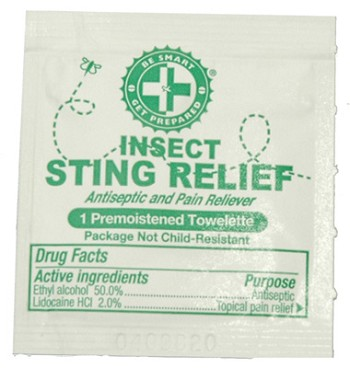Sting Relief Prep Pads (100 packets)