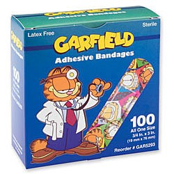 "Garfield Bandages, Strips, 3/4"" x 3"" - Box/100"