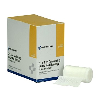 "Non-Sterile Conforming Gauze Roll Bandage (2"") - 10 per Dispenser Box"