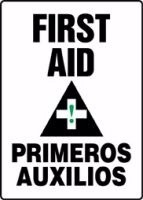 Bilingual First Aid Sign (Plastic)