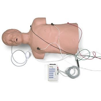 Defibrillation/CPR Training Manikin with Carry Bag