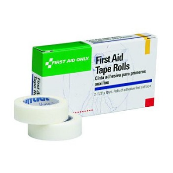 "First Aid Tape Roll (1/2"" x 10 yds) - 2 per Single Unit Box"
