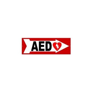 AED Sign - Right Arrow