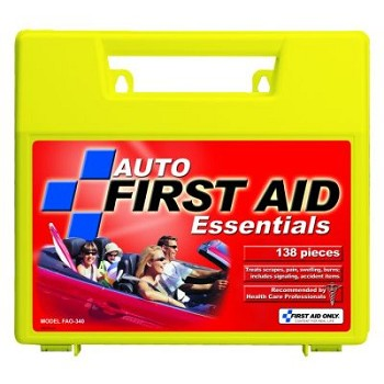 Vehicle First Aid Kit - 138-Piece (Large Plastic Case)