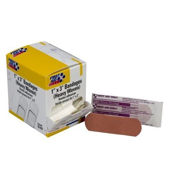 "Heavy Woven Bandage (1"" x 3"") - 50 per Dispenser Box"