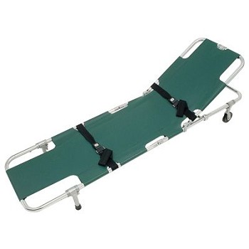 Easy Fold Wheeled Stretcher with Adjustable Back Rest