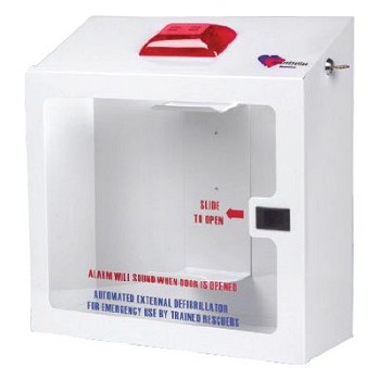 HeartStation AED Wall Cabinet (Recessed with Security Tie In)