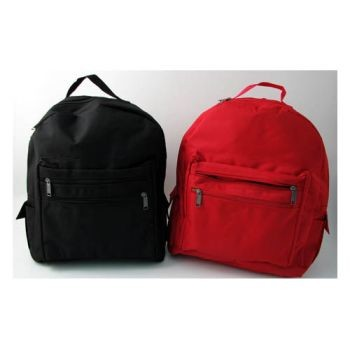 "Adult Size Backpack - Black w/ ""Survival Kit"" imprint"