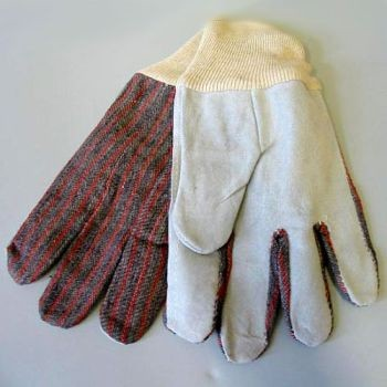 Work Gloves - Leather Palm