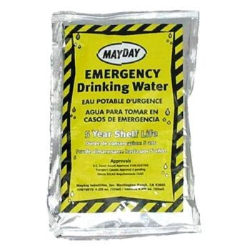 Case of 100 Mayday Pouch Water with 4.22oz Drinking Container