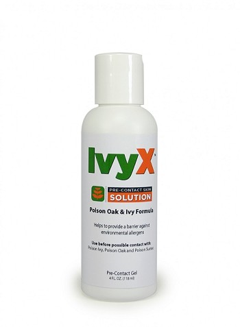 IvyX Poison Oak & Ivy Pre-Contact Solution,4 oz. Bottle