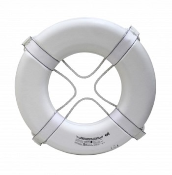 "Kemp Coast Guard Approved 24"" Ring Buoy  - White"