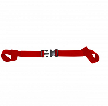 Kemp Two Piece Spine Board Strap - Red