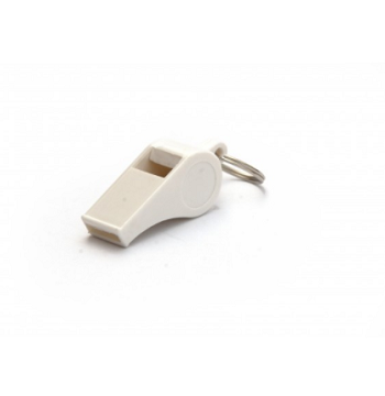 Plastic Pea Whistle - White