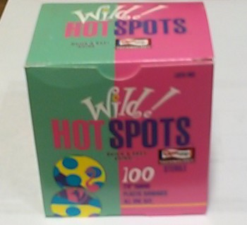 "Wild Hot Adhesive Bandages, Spots, 7/8"" - Box/100"