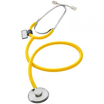 Singularis SOLO Single Head Stethoscope - 10 Pack (Yellow)